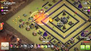 getlinkyoutube.com-Clash of clans maxd th9 war attack 3 star GOWIWI SQUARE BASE ultimate attack