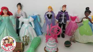 getlinkyoutube.com-HUGE POLLY POCKET Disney Princess Deluxe Fashion Sets - Cinderella Ariel Belle Tiana Jasmine