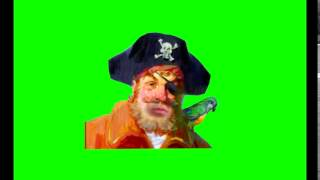 getlinkyoutube.com-Spongebob Green Screen - Pirate (without background)