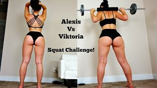 getlinkyoutube.com-BIG BOOTY Girls Squat Contest: Viktoria vs Alexis, Who Will Win!