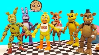 getlinkyoutube.com-Complete Set Of Five Night's At Freddy's Funko Action Figures + Bonus Spring Trap