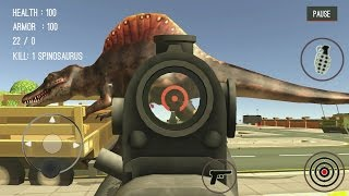 getlinkyoutube.com-Dinosaur Hunter Dino City 2017 Android Gameplay #2