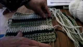 getlinkyoutube.com-Crochet Tartan: How To Assemble Your Tartan