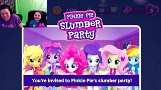 getlinkyoutube.com-Equestria Girls Friendship Games My Little Pony App Pinkie Pie Slumber Party Mini Games n Codes MLP