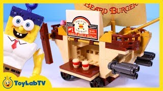 getlinkyoutube.com-SpongeBob Sponge Out of Water Toy Review of the Mega Bloks Burgermobile Showdown Food Truck