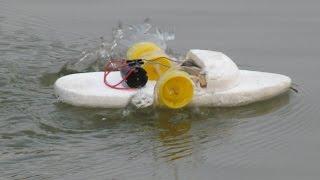 getlinkyoutube.com-Cara membuat perahu bertenaga listrik | 2 roda