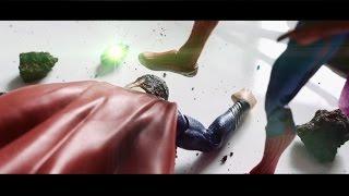 getlinkyoutube.com-Superman VS Spiderman ( Man of Steel, Avengers, Justice League, Fight )