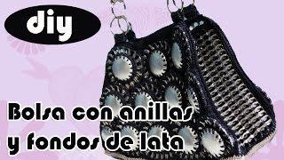 """getlinkyoutube.com-Como hacer una bolsa con fondos de bote de lata y anillas: Bolsa """"Brenda"""" parte 4"""
