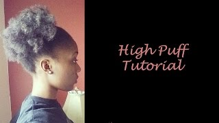 getlinkyoutube.com-How To: Quick & Easy High Puff Tutorial on 4C Natural Hair (Akward Stage)