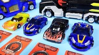 getlinkyoutube.com-터닝메카드 에반 나찬 타나토스 MeCard 헬로카봇 다이노포스 장난감Turning MeCard car toys