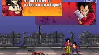 Dragon Ball GT - Goku Saiyan 4 Vs Vegeta Saiyan 4