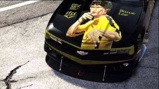 getlinkyoutube.com-Bruce Lee - Game of Death - Time Lapse Painting - Forza 3