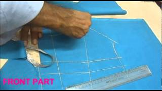 getlinkyoutube.com-How To Cut Proper Priences Blouse/Step By Step Choli Cutting Method