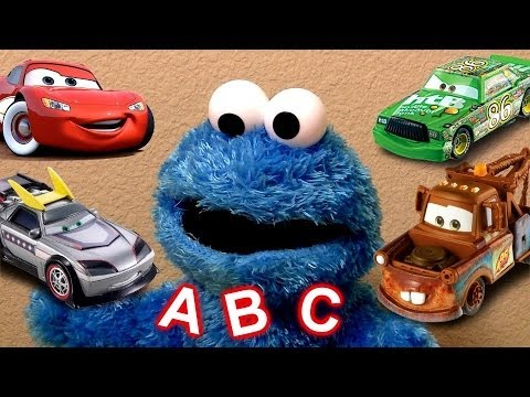 Learn the Alphabet With Cookie Monster Eats Cars Play-Doh Cookie Monster's Letter Lunch Disney Pixar