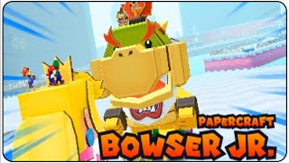 getlinkyoutube.com-Mario & Luigi Paper Jam Walkthrough Part 28 Papercraft Bowser Jr. Boss Battle