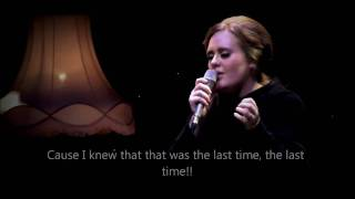 "getlinkyoutube.com-Adele - Set fire to the rain ""OFFICIAL VIDEO LYRICS"" HD (live from Tabernacle, London)"