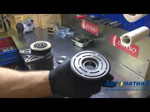Nissan Murano Ремонт муфты, замена подшипника шкива в компрессоре кондиционера.