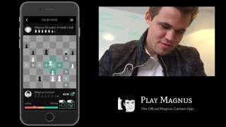 getlinkyoutube.com-Magnus Carlsen vs. Magnus Carlsen on Play Magnus App  - Age 14 Years 4 Months