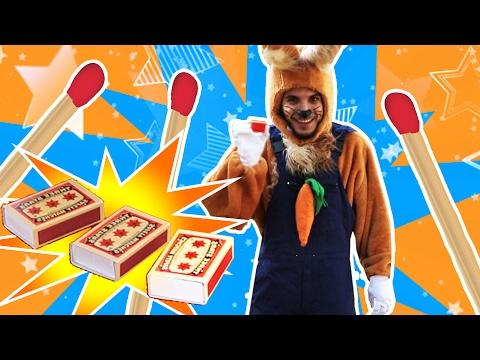 نطنط نهار وأرنوب الحبوب | سحر مع أرنوب - علب كبريت | Matches