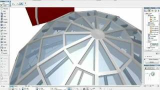 getlinkyoutube.com-How to create dome shape with the curtain wall in ArchiCAD 15