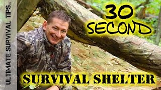 NEW! 30 Second Survival Shelter - HACK - OPSEC Hunting / Camping / Bug Out Bag / EDC  - BEST Poncho