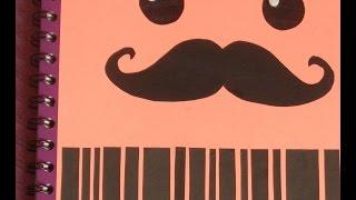 getlinkyoutube.com-decora tus cuadernos con mostachos
