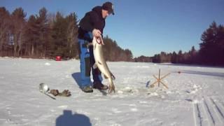 getlinkyoutube.com-Survivor Man Ice Fishing Bloopers