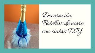 getlinkyoutube.com-Decoración botella de novia Wedding Decoration  bottle