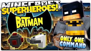getlinkyoutube.com-Minecraft | How To Be A Superhero! | BATMAN! | Only One Command (One Command Creation)