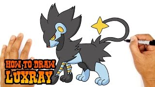 getlinkyoutube.com-How to Draw Luxray (Pokemon)- Kids Art Lesson