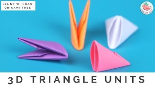getlinkyoutube.com-How to Fold 3D Origami Pieces - Make the 3D Origami Triangle Units (3D Origami Basics)!