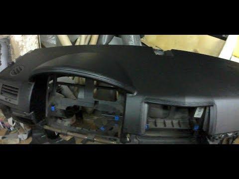 Перетяжка и ремонт торпедо Opel Astra H