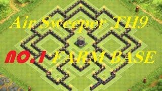 Clash of Clans - Air sweeper TH9 best Farming Base Town Hall 9 Anti hog rider Lava hound Balloon Gol