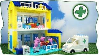getlinkyoutube.com-Свинка Пеппа. Строительство больницы и История с героями мультика. Конструктор BIG как Lego.