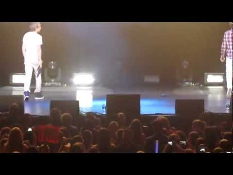 One Direction Fort Lauderdale Concert 7/1/12 a speech from louis and liam