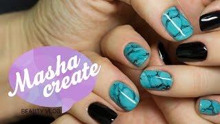 getlinkyoutube.com-Дизайн ногтей: текстура бирюзы гель лаком