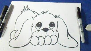 getlinkyoutube.com-como desenhar um filhote de cachorro
