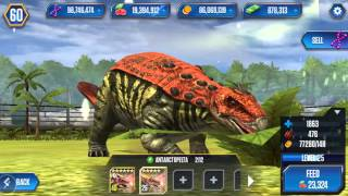 getlinkyoutube.com-ANTARCTOPELTA - level 40 DINO - Jurassic World The Game