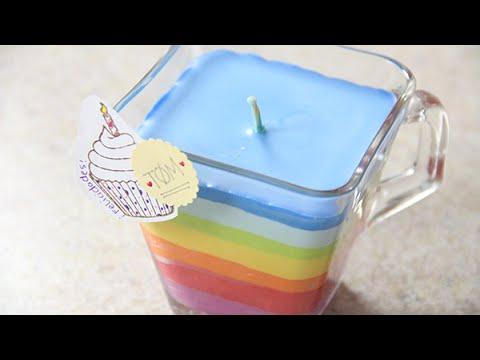 Como hacer Velas arcoiris con crayolas   Craftingeek