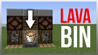 getlinkyoutube.com-Minecraft 1.10: Redstone Tutorial - 100% Safe Lava Bin v3