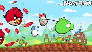 getlinkyoutube.com-Angry Birds - RED'S MIGHTY FEATHERS (Protect the Egg) - Part 3