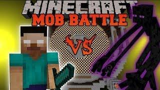 getlinkyoutube.com-MUTANT ENDERMAN VS. HEROBRINE - Minecraft Mob Battles - Arena Battle - Mutant Creatures Mod Battles