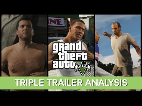 GTA V Three Trailer Analysis - Michael Franklin Trevor - Every Detail