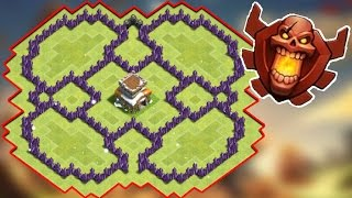 Clash Of Clans - The Flower 2.0 (BEST TH7 NEW HYBRID / FARMING BASE) - New 2016 HD