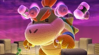 getlinkyoutube.com-Yoshi's Woolly World - All Bosses + Final Boss / Ending