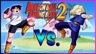 getlinkyoutube.com-Dragon Ball Raging Blast 2: Videl Vs. Android 18