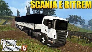 getlinkyoutube.com-Farming Simulator 2015 -  Caminhão Scania e Reboque Bitrem de 9 Eixos