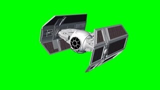 Star Wars Tie Fighter Fly By with Sound - free green screen