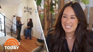Fixer Upper Star Joanna Gaines Gives A Tour Of Her Family Farmhouse | TODAY width=