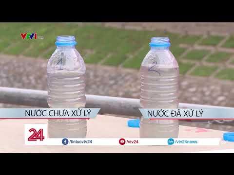 Nước sông Tô Lịch sau 6 ngày áp dụng công nghệ làm sạch Nano